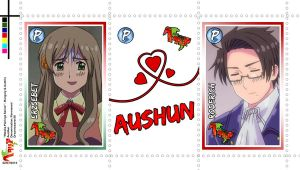 Pairing Series - Hetalia Stamps - AUSHUN by Dreamweaver38