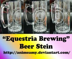 """Equestria Brewing"" Beer Stein by AnimeAmy"