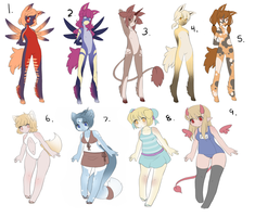 Cheap Leftover Adoptables by Kurodoptables