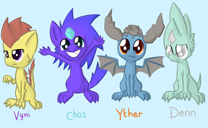 Just Some Characters by SketchRagon
