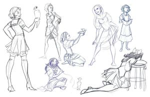 Life Sketches 8 by mollyinmeguro