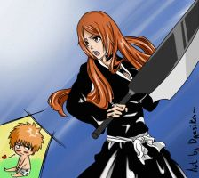 LOL - Ichigo and Orihime by Dgesika