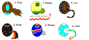 Closed Egg Adopts by MapleKennels