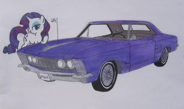 Rarity and Her Riviera by Patridam