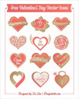 Free Valentines Day Vector Icons by Designbolts