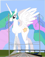 There is a giant Celestia crossing our path by OceanRailroader