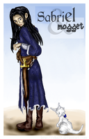 Sabriel and Mogget by cha29
