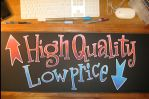 high low chalkboard by ChristopherNawara