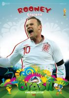 ROONEY WORLD CUP 2014 POSTER by asendos