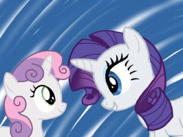Sweetie Belle and Rarity by gundam04