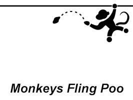 Monkeys Fling Poo by insaneninja
