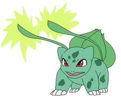 Bulbasaur uses Vine Whip by Kainaa