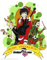 Green Day Christmas by darkwaylovesMCR