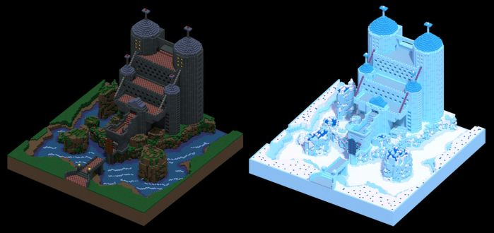 MagicaVoxel Castles by KxG-WitcheR