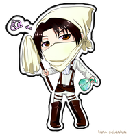 Chibi Heichou Cleaning!! by LunaSelenium