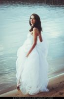 STOCK - White Dress 06 (Beach) by LienSkullova