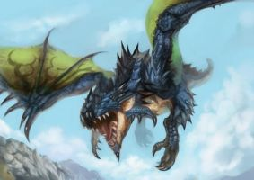 rathalos celeste by world-hunter