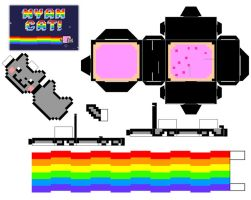 Nyan Cat Cubee by mikeyplater