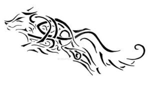 Celtic Wolf Tattoo by Relsyin