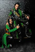 Loki and Lady Loki cosplay by CharlieHotshot