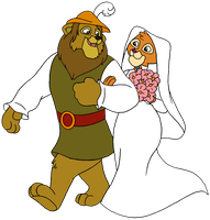 Leo Lionheart (Robin Hood and Kairel (Maid Marian) by KingLeoLionheart