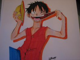One Piece: Luffy by TheGaboefects