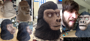 Planet Of The Apes (classic) Sculpture by TheLittlestGiant