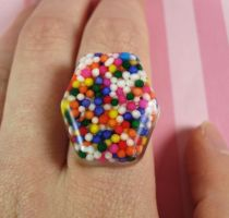 Party Sprinkles Ring by FatallyFeminine
