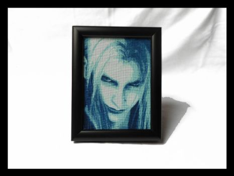 Sephiroth Mako - Cross Stitch Framed by shingorengeki