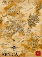Map of the Lands of Arnica by TheForsakenSailor