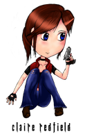 Resident Evil Claire Redfield Chibi by FadedBlackangel