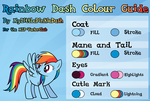 Rainbow Dash Colour Guide by Atmospark