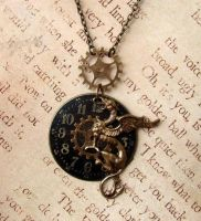 Steampunk Griffon Necklace by FusedElegance