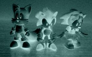 Sonic, Tails, and Amy in the NEGATIVE ZONE by ArtKing3000
