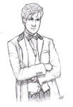11th Doctor Sketch by ShiroxCloud