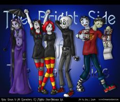 Ruby Gloom Character Lineup by AmyJSmylie