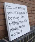 Motivational Quote - Spray Paint Stencil Canvas by RAMART79
