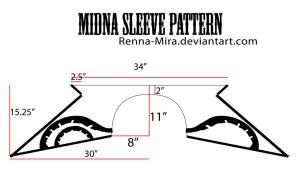 Midna Sleeve Pattern w/Decals by Renna-Mira