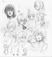 Random 4AM pencil doodles by ryuuen