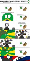 friendly rivalries in online shooters 2 - BR vs SA by caiobrazil
