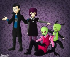 Invader Zim: Cast by Snowflake-owl