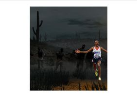 Mo Farah running away from the undead by Justiceavenger