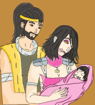 New Family Of Hanzo And Mileena by cacaloka17