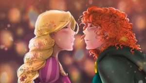 And at last I see the light - [Merida/Rapunzel] by Kiki-Asuka