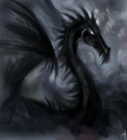 black dragon by SnowSkadi