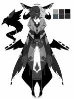 monochromatic raven spirit adoptable CLOSED by AS-Adoptables