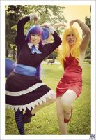 Panty and Stocking playing stupid by Minorea