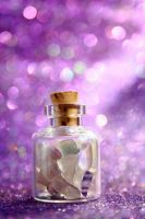 little Bottle of crystals by xChristina27x