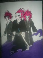 Redheads Reno, Renji and Axel by redwolf18blue