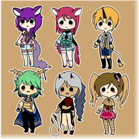 Chibi set by butterbly